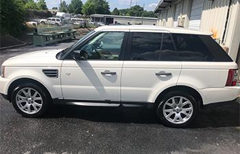 White SUV and auto detailing in Montgomery, AL.